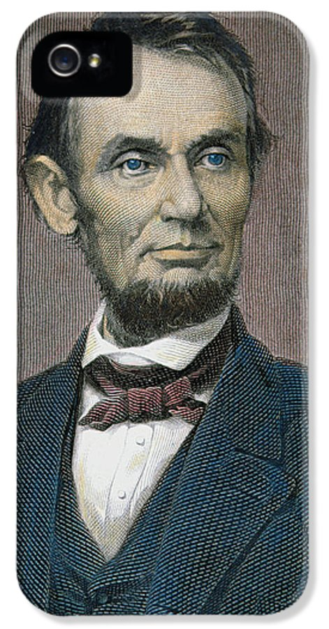 Statesman IPhone 5 Case featuring the painting Abraham Lincoln by American School