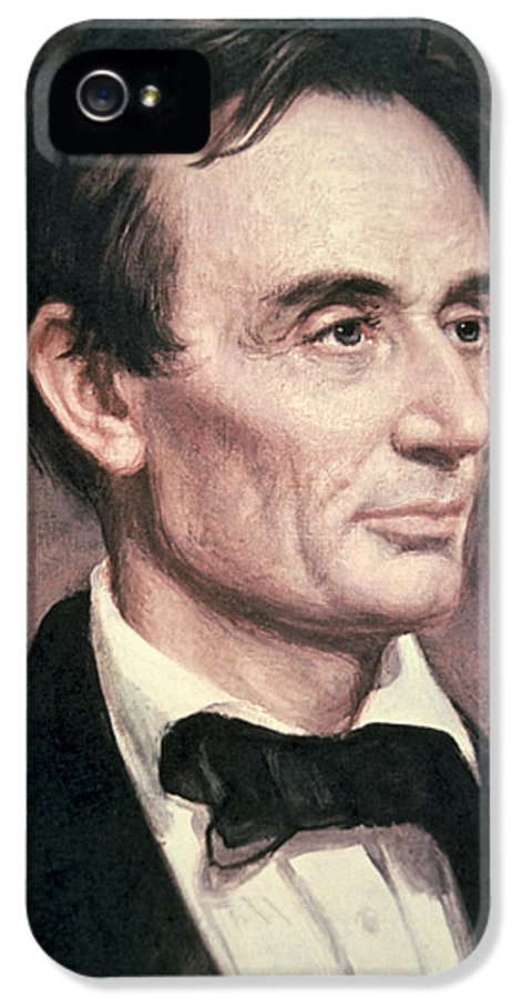Statesman IPhone 5 Case featuring the painting Abraham Lincoln by George Peter Alexander Healy