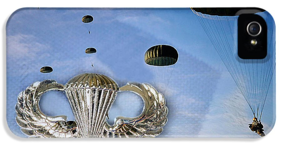 U.s. Army IPhone 5 Case featuring the photograph Airborne by JC Findley