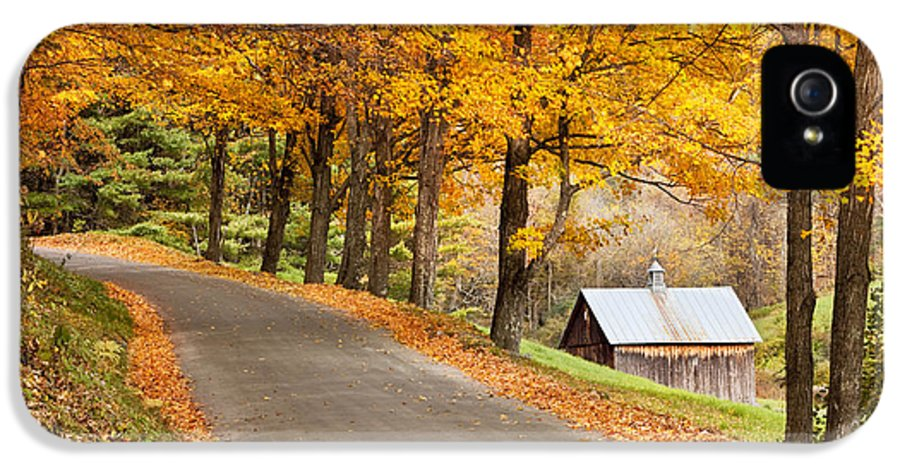 Country IPhone 5 Case featuring the photograph Autumn Road by Brian Jannsen