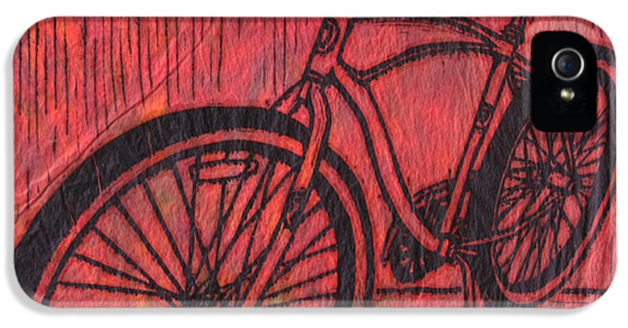 Bike IPhone 5 Case featuring the drawing Bike 6 by William Cauthern