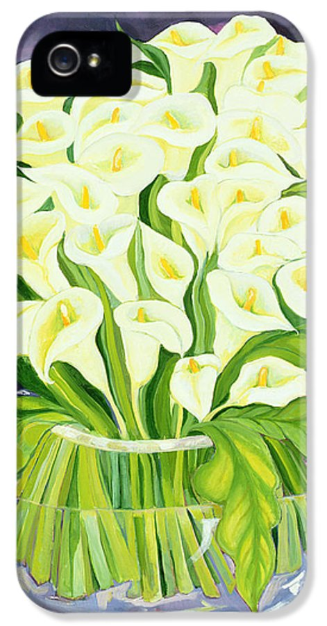 Flowers IPhone 5 Case featuring the painting Calla Lilies by Laila Shawa