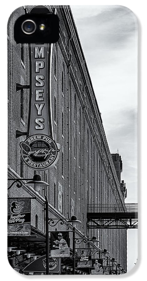 Baltimore IPhone 5 Case featuring the photograph Dempseys Brew Pub by Susan Candelario