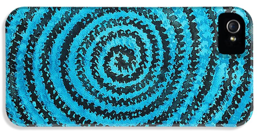 Dreamcatcher IPhone 5 Case featuring the painting Dreamcatcher Original Painting by Sol Luckman