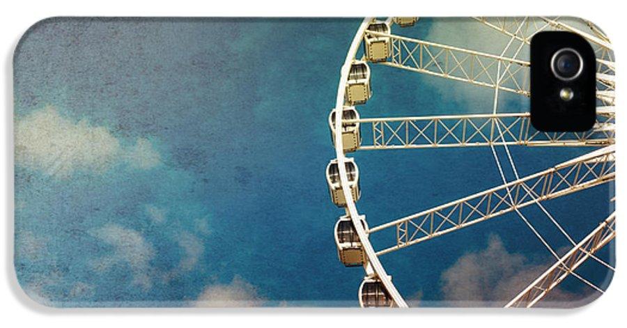 Fun IPhone 5 Case featuring the photograph Ferris Wheel Retro by Jane Rix