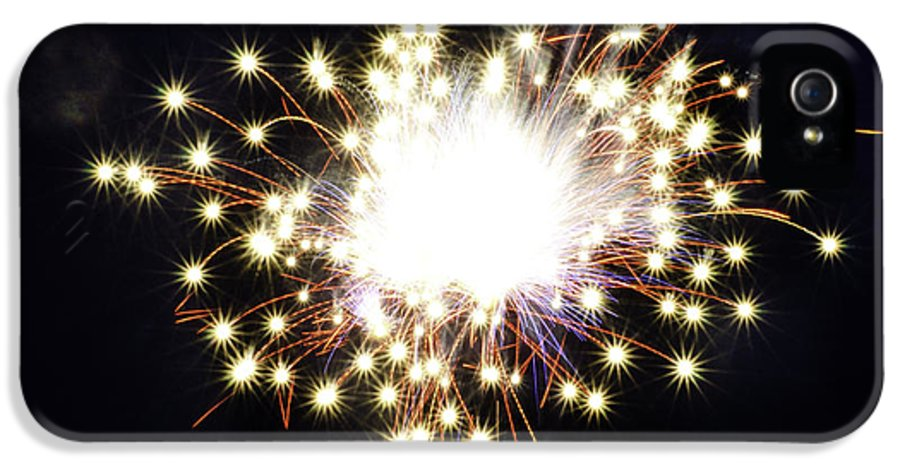 Firework IPhone 5 Case featuring the photograph Fireworks Shell Burst by Jay Droggitis