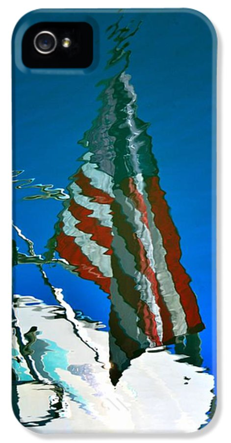 Newel Hunter IPhone 5 Case featuring the photograph Flag Day Reflection by Newel Hunter