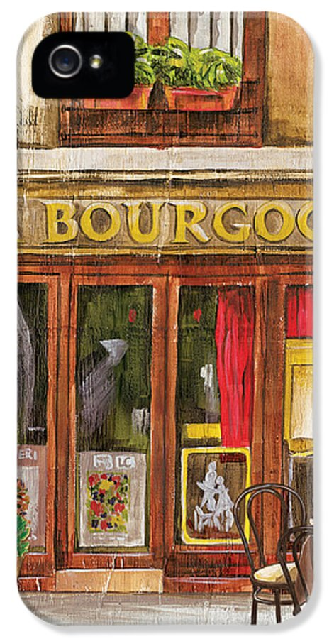 Restaurant IPhone 5 Case featuring the painting French Storefront 1 by Debbie DeWitt