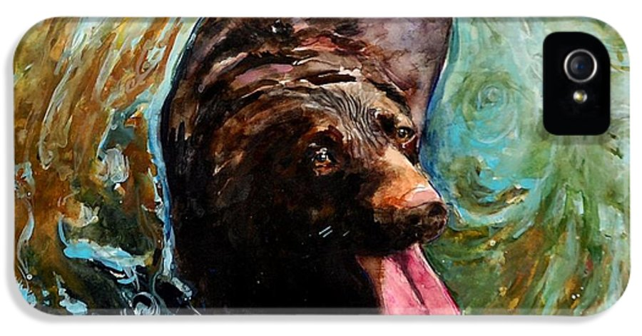 Chocolate Labrador Retriever IPhone 5 Case featuring the painting Fudge Ripple by Molly Poole