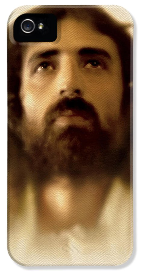 Jesus IPhone 5 / 5s Case featuring the digital art Jesus In Glory by Ray Downing