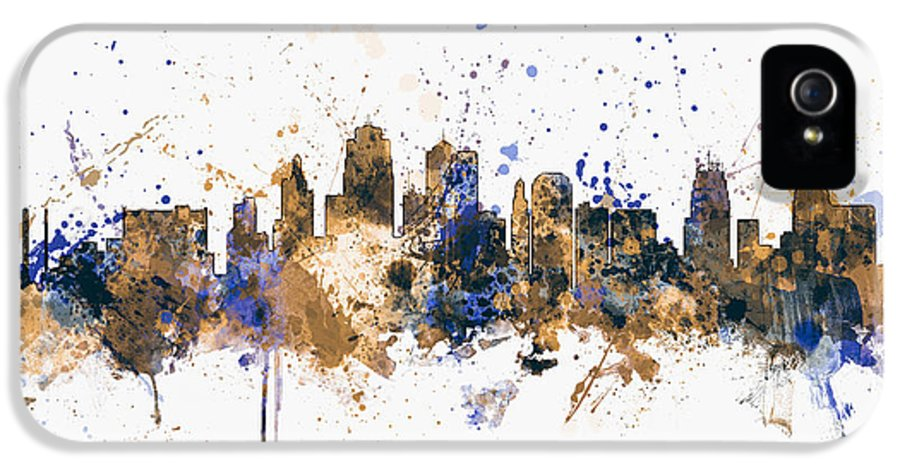 United States IPhone 5 Case featuring the digital art Kansas City Skyline by Michael Tompsett