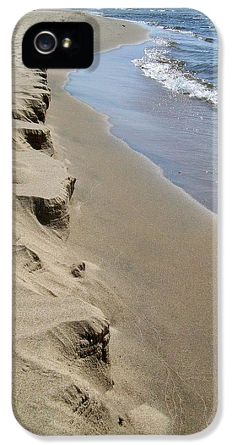 Lake Michigan IPhone 5 Case featuring the photograph Lake Michigan Shoreline by Michelle Calkins