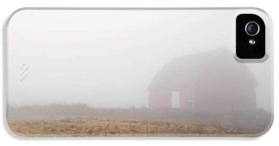 Barn IPhone 5 Case featuring the photograph Out Of The Fog by Mike Dawson