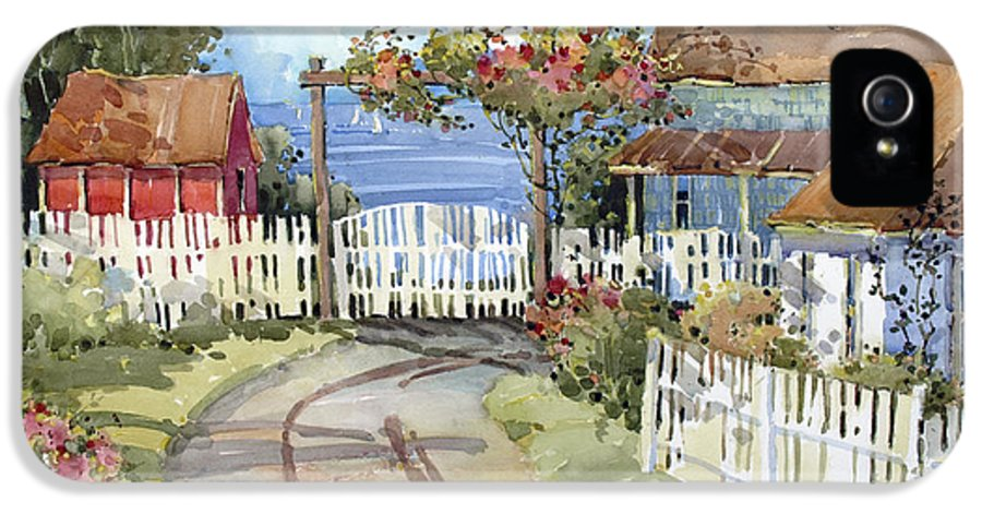 Westport IPhone 5 Case featuring the painting Pacific Out Back by Joyce Hicks