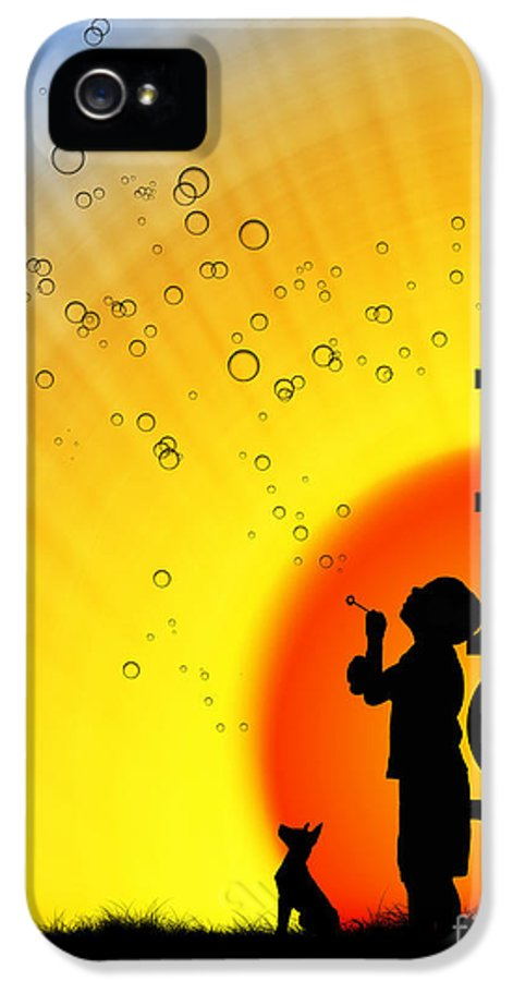 Boy IPhone 5 Case featuring the photograph Peace by Tim Gainey