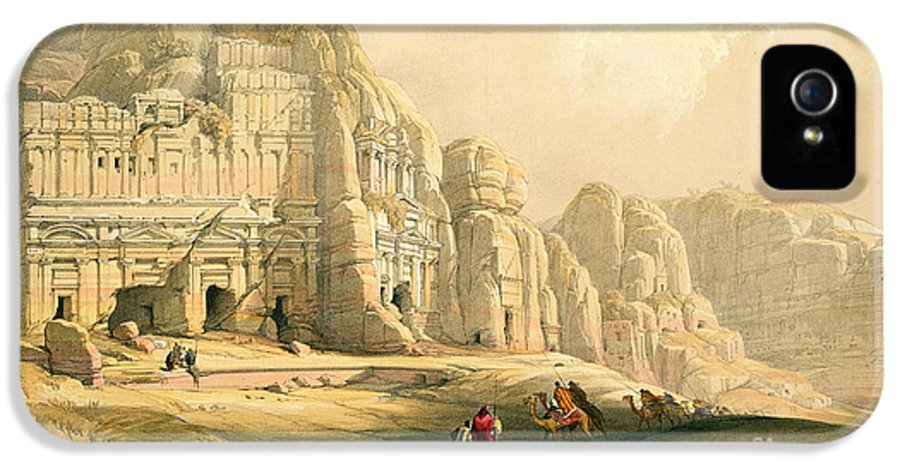 Landscape IPhone 5 Case featuring the painting Petra by David Roberts