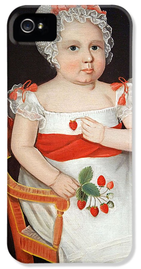 Strawberry Girl IPhone 5 Case featuring the photograph Phillips' The Strawberry Girl by Cora Wandel