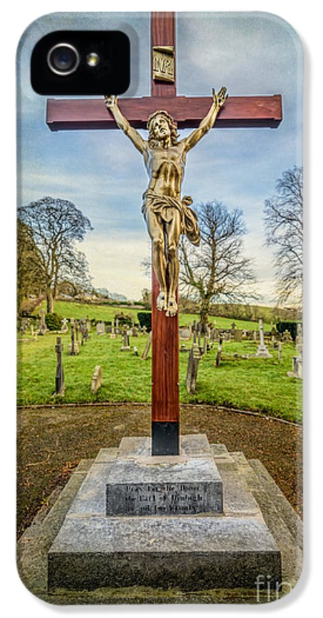 British IPhone 5 Case featuring the photograph The Cross by Adrian Evans