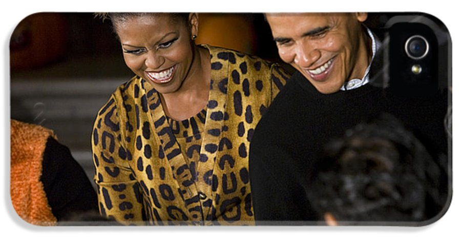 Barack Obama IPhone 5 Case featuring the photograph The President And First Lady by JP Tripp