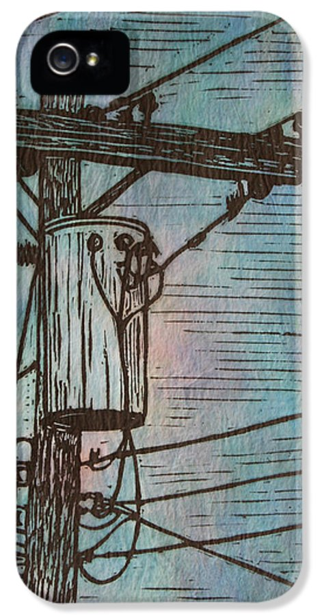 Power IPhone 5 Case featuring the drawing Transformer by William Cauthern
