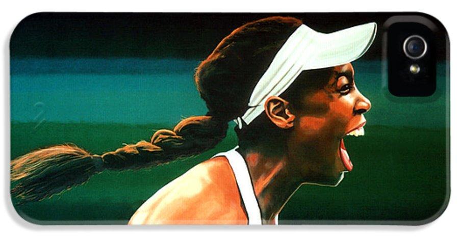 Venus Williams IPhone 5 / 5s Case featuring the painting Venus Williams by Paul Meijering