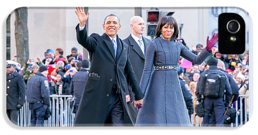 Obama IPhone 5 Case featuring the photograph 2013 Inaugural Parade by Ava Reaves