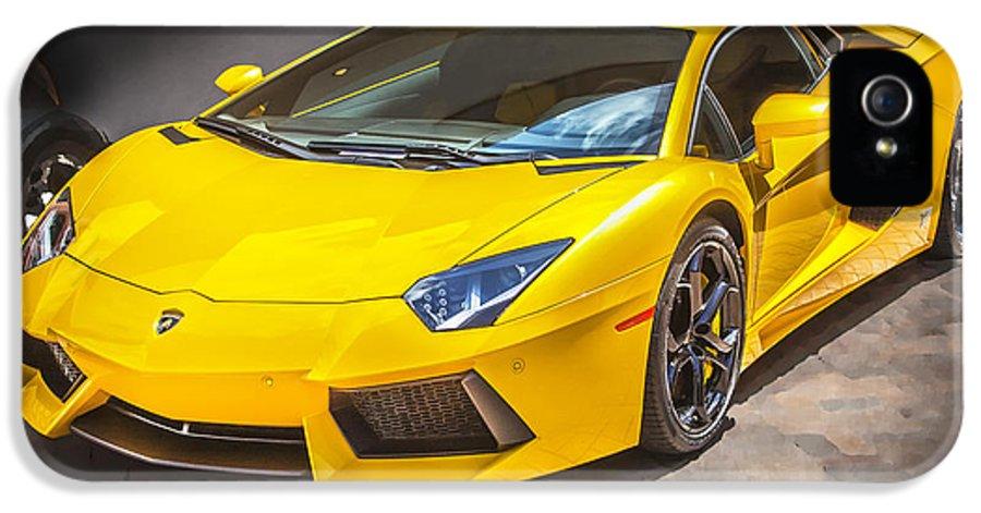 2013 Lamborghini IPhone 5 Case featuring the photograph 2013 Lamborghini Adventador Lp 700 4 by Rich Franco