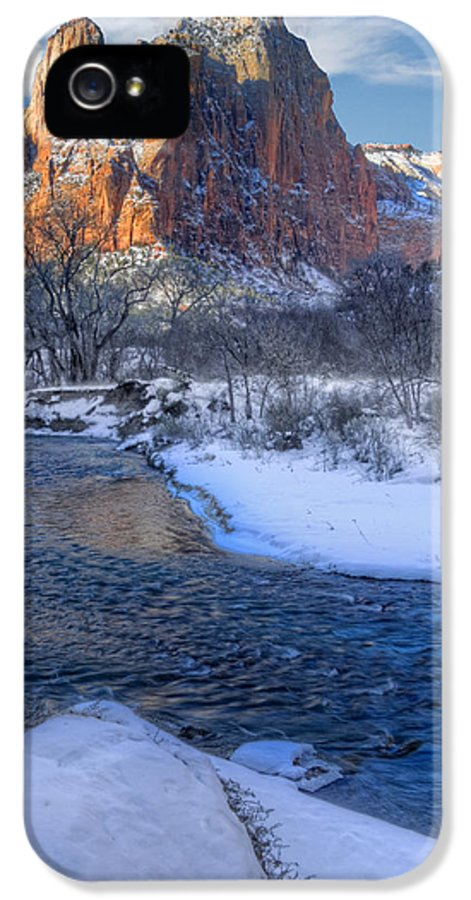 Zion National Park IPhone 5 Case featuring the photograph Zion National Park Utah by Utah Images