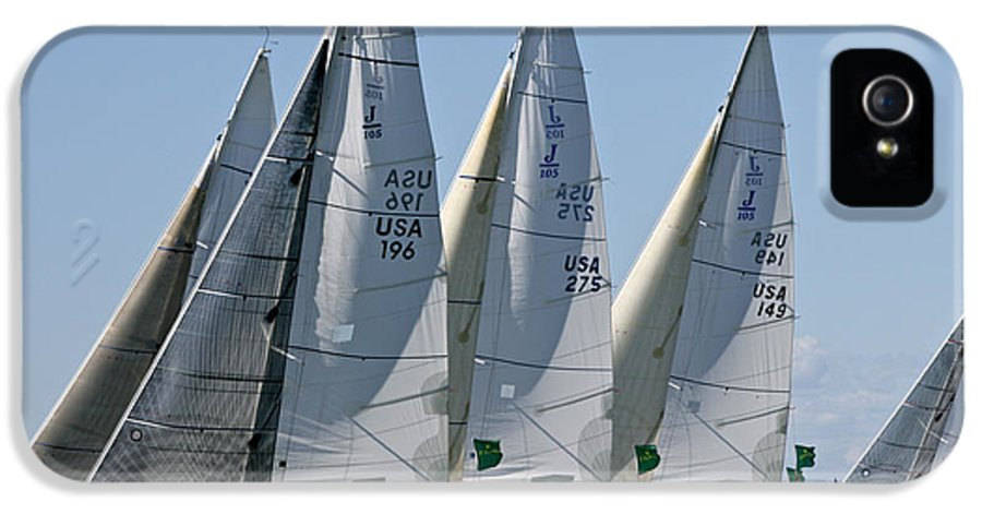 Melges IPhone 5 Case featuring the photograph Sf Bay Sailing by Steven Lapkin