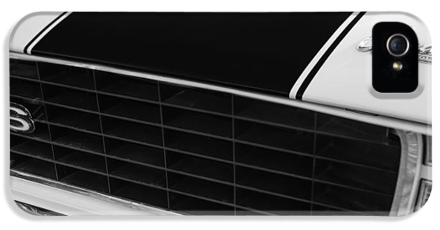 1969 Chevrolet Camaro Rs-ss Indy Pace Car Replica Grille Hood Emblems IPhone 5 Case featuring the photograph 1969 Chevrolet Camaro Rs-ss Indy Pace Car Replica Grille - Hood Emblems by Jill Reger