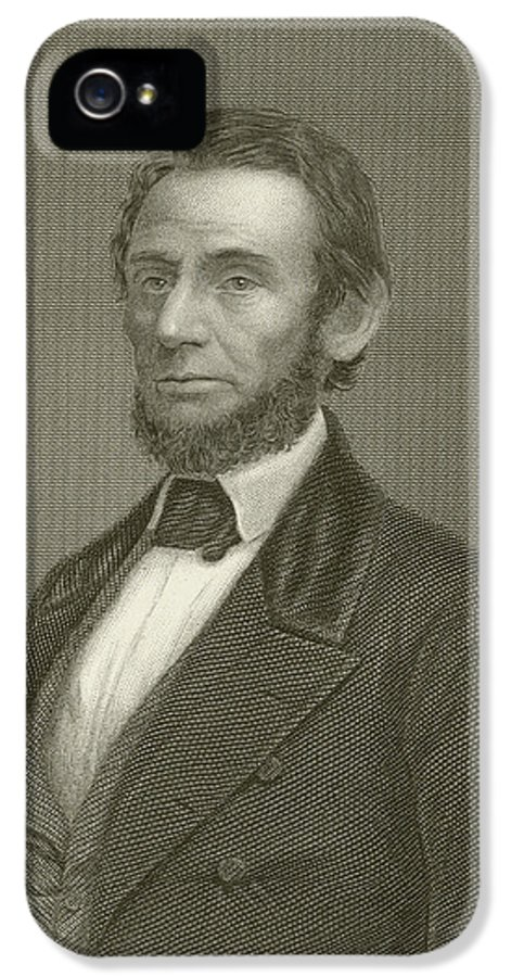 Abraham Lincoln IPhone 5 Case featuring the drawing Abraham Lincoln by English School
