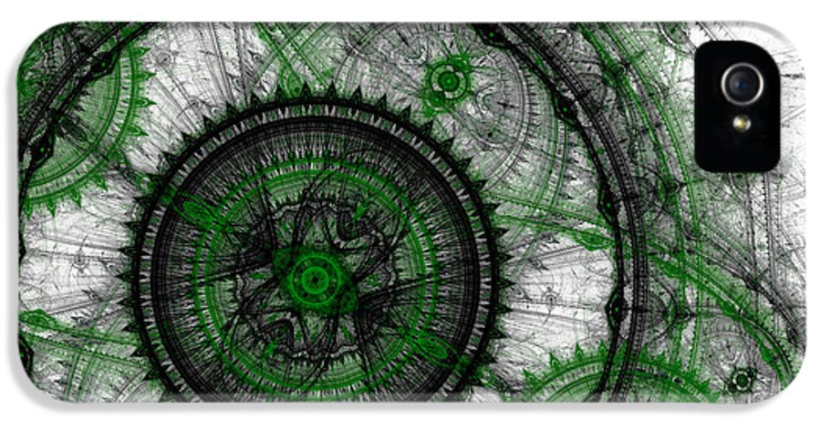 Time IPhone 5 Case featuring the digital art Abstract Mechanical Fractal by Martin Capek