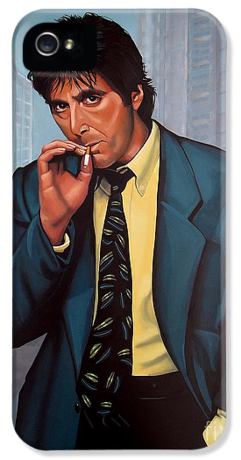 Al Pacino IPhone 5 Case featuring the painting Al Pacino 2 by Paul Meijering