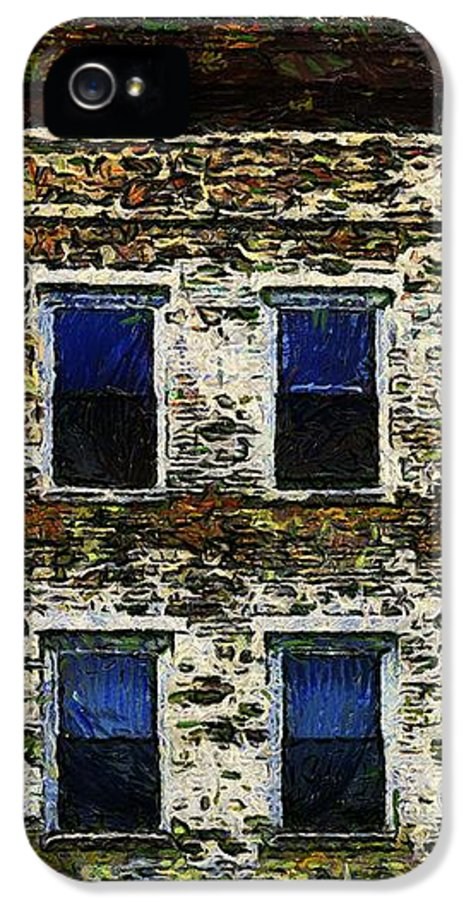 Buildings IPhone 5 Case featuring the painting 3 Am In Amherst by RC deWinter