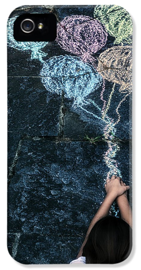 Girl IPhone 5 Case featuring the photograph Balloons by Joana Kruse