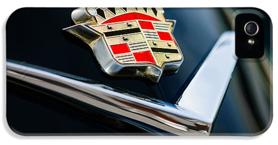 Cadillac Emblem IPhone 5 Case featuring the photograph Cadillac Emblem by Jill Reger