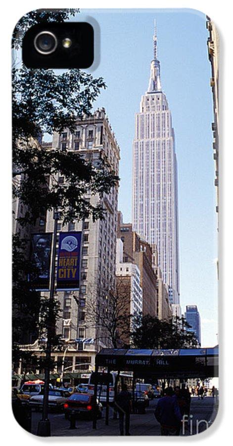 Empire State Building Canvas Prints IPhone 5 Case featuring the mixed media Empire State Building by Jon Neidert