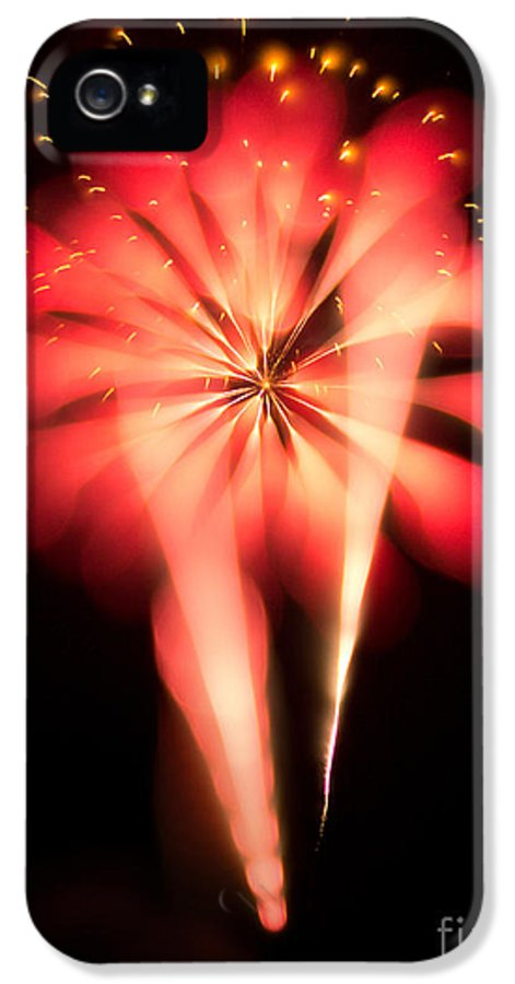 4 IPhone 5 Case featuring the photograph Fireworks Art by Benjamin Simeneta