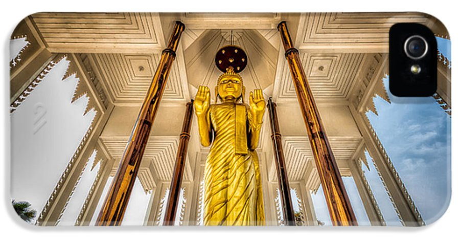 Hdr IPhone 5 Case featuring the photograph Golden Buddha by Adrian Evans