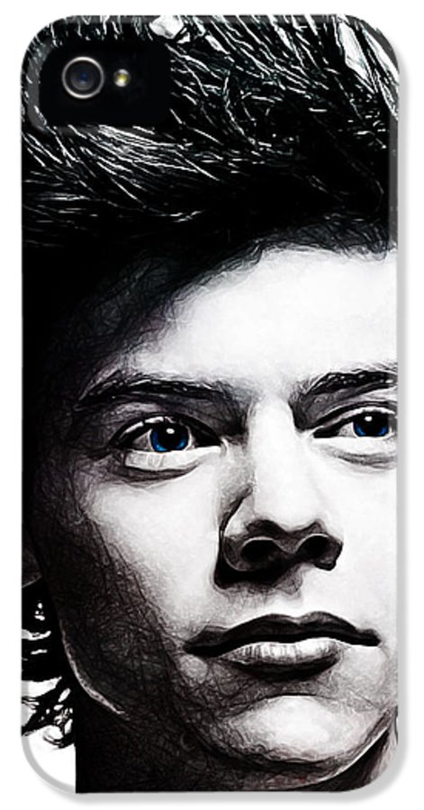 One Direction IPhone 5 Case featuring the digital art Harry Styles by The DigArtisT