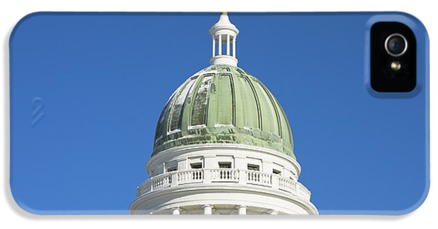 Maine IPhone 5 Case featuring the photograph Maine State Capitol Building In Augusta by Keith Webber Jr