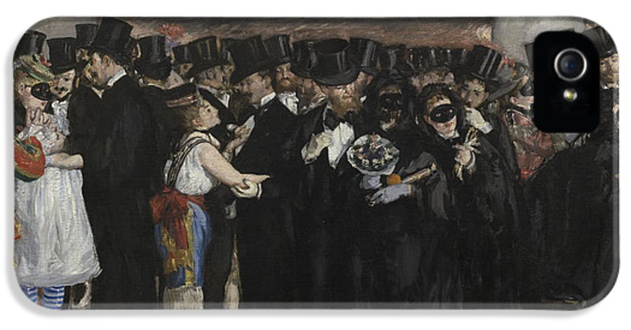Party IPhone 5 Case featuring the painting Masked Ball At The Opera by Edouard Manet