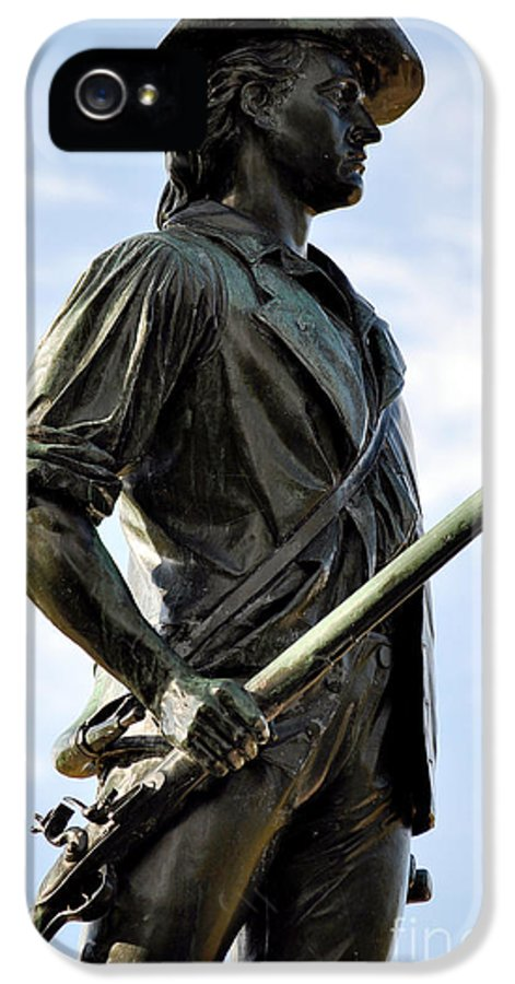 Minute Man Statue IPhone 5 Case featuring the photograph Minute Man Statue Concord Massachusetts by Staci Bigelow