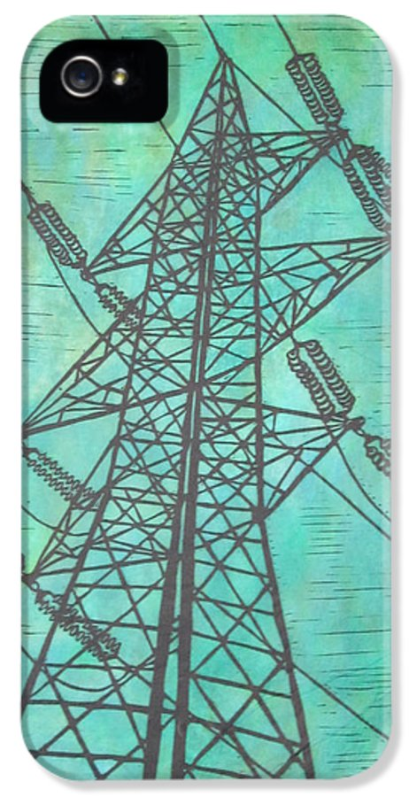Power IPhone 5 Case featuring the drawing Power by William Cauthern