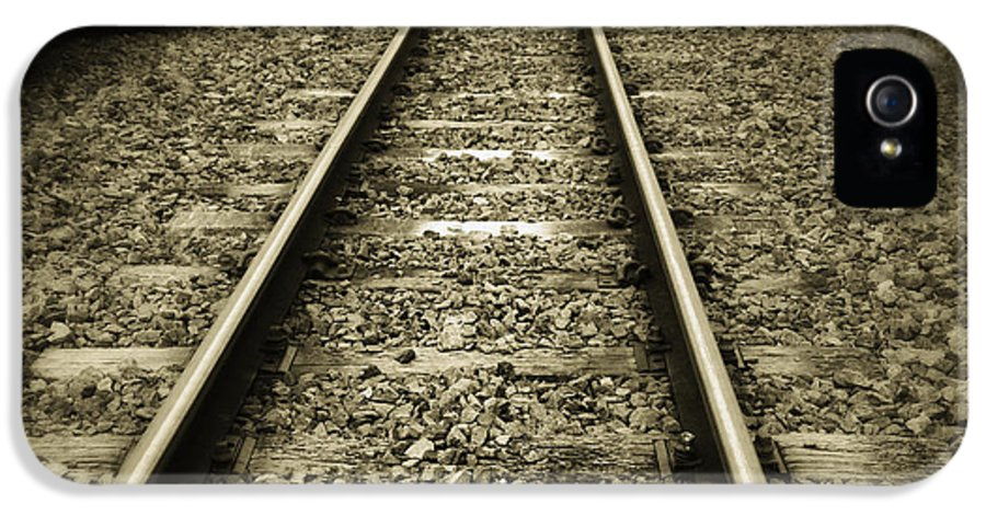 Industry IPhone 5 Case featuring the photograph Railway Tracks by Les Cunliffe