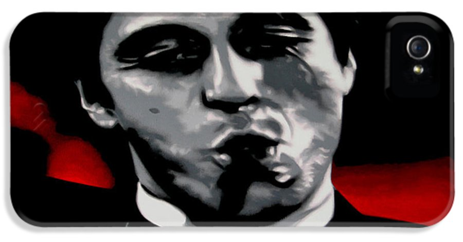 Ludzska IPhone 5 Case featuring the painting Scarface 2013 by Luis Ludzska