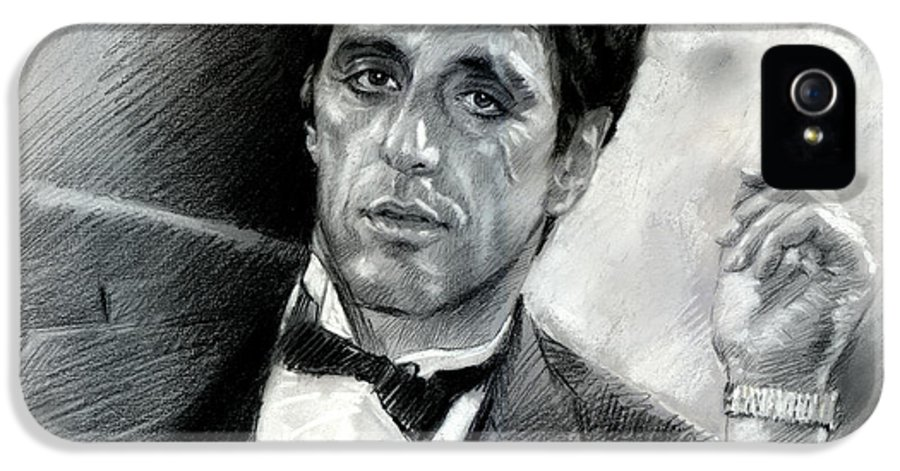 Scarface IPhone 5 Case featuring the drawing Scarface by Viola El