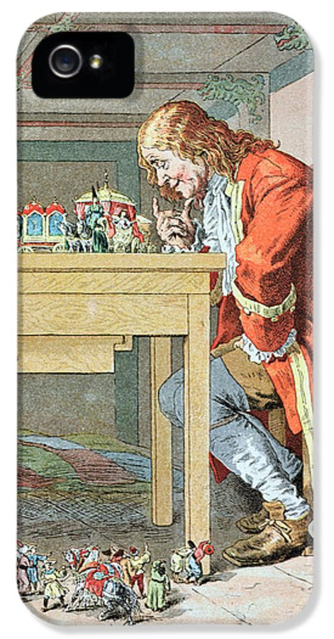 'gulliver's Travels' IPhone 5 Case featuring the painting Scene From Gullivers Travels by Frederic Lix