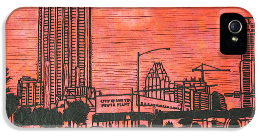 Seaholm IPhone 5 Case featuring the drawing Seaholm by William Cauthern