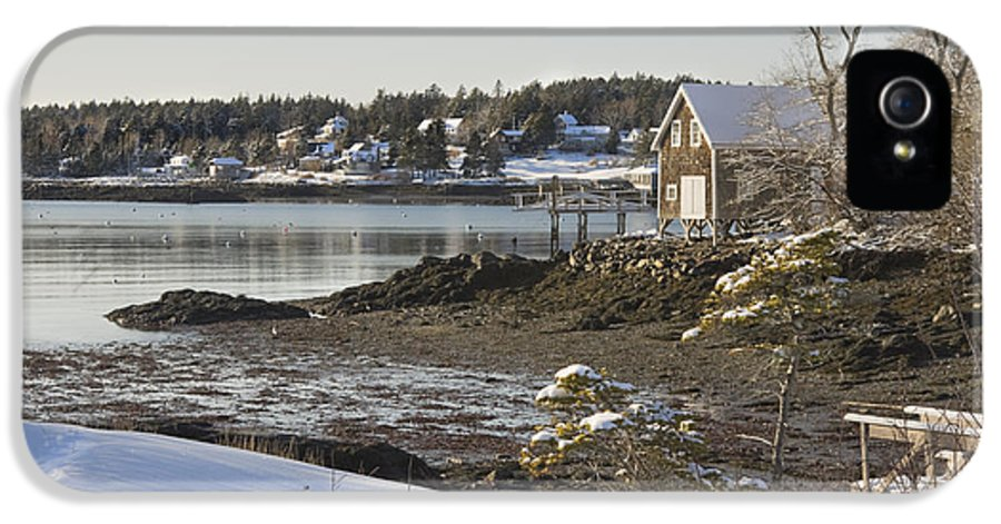 Maine IPhone 5 Case featuring the photograph South Bristol On The Coast Of Maine by Keith Webber Jr